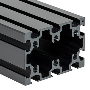 XE5075L2/M - 50 mm x 75 mm Construction Rail, 2 m Long, M6 Taps