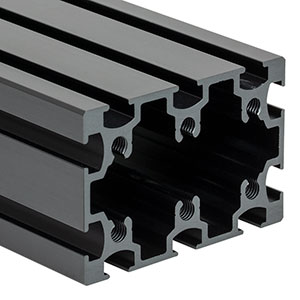 XE5075L40 - 50 mm x 75 mm Construction Rail, 40in Long, 1/4in-20 Taps