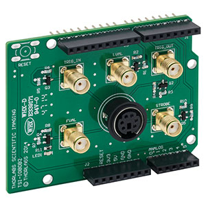 TSI-IOBOB2 - I/O Break-Out Board for Scientific CCD and Compact Scientific Cameras with Shield for Arduino (Arduino Board not Included)