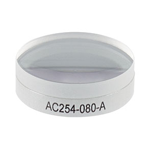 AC254-080-A - f = 80.0 mm, Ø1in Achromatic Doublet, ARC: 400 - 700 nm