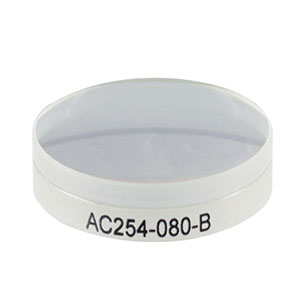AC254-080-B - f = 80.0 mm, Ø1in Achromatic Doublet, ARC: 650 - 1050 nm