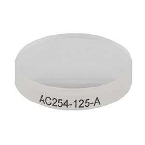 AC254-125-A - f = 125 mm, Ø1in Achromatic Doublet, ARC: 400 - 700 nm