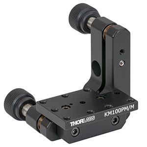 KM100PM/M - Kinematic Prism Mount, 25.4 mm Deep, M4 Taps