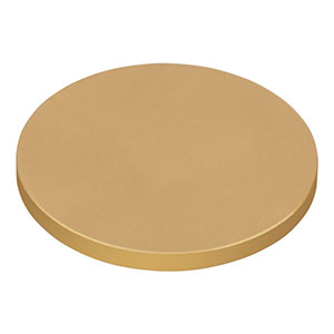 DG10-600-M01 - Ø1in Protected Gold Reflective Ground Glass Diffuser, 600 Grit