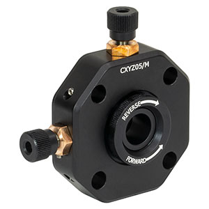 CXYZ05/M - XYZ Translation Mount for Ø12.7 mm Optics, M4 Taps