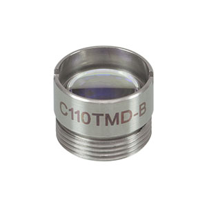 C110TMD-B - f = 6.24 mm, NA = 0.40, Mounted Geltech Aspheric Lens, AR: 600 - 1050 nm