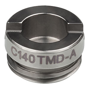 C140TMD-A - f = 1.45 mm, NA = 0.58, Mounted Geltech Aspheric Lens, AR: 350 - 700 nm