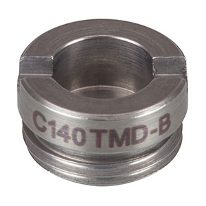 C140TMD-B - f = 1.45 mm, NA = 0.58, Mounted Geltech Aspheric Lens, AR: 600 - 1050 nm