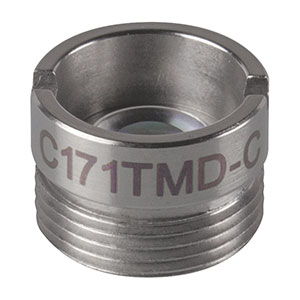 C171TMD-C - f = 6.20 mm, NA = 0.30, Mounted Geltech Aspheric Lens, AR: 1050-1700 nm