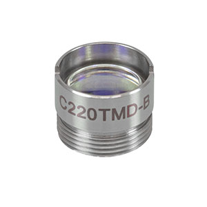 C220TMD-B - f = 11.0 mm, NA = 0.25, Mounted Geltech Aspheric Lens, AR: 600 - 1050 nm