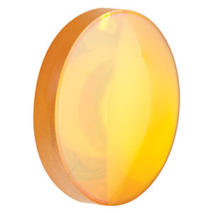 AL72525-G - Ø1in ZnSe Aspheric Lens, f=25.0 mm, NA=0.42, ARC: 7-12 µm