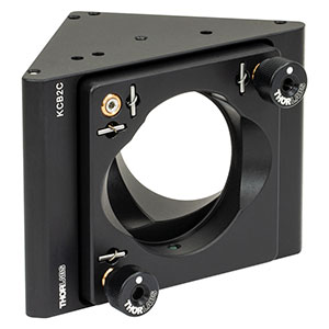 KCB2C - Right-Angle Kinematic Mirror Mount with Smooth Cage Rod Bores, 60 mm Cage System and SM2 Compatible, 8-32 and 1/4in-20 Mounting Holes