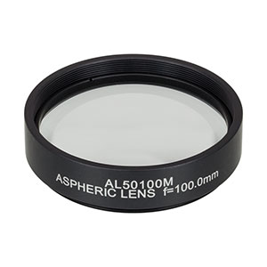 AL50100M - Ø50 mm N-BK7 Mounted Aspheric Lens, f=100 mm, NA=0.24, Uncoated