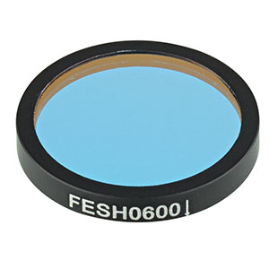 FESH0600 - Ø25.0 mm Premium Shortpass Filter, Cut-Off Wavelength: 600 nm