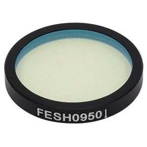 FESH0950 - Ø25.0 mm Premium Shortpass Filter, Cut-Off Wavelength: 950 nm