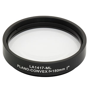 LA1417-ML - Ø2in N-BK7 Plano-Convex Lens, SM2-Threaded Mount, f = 150.0 mm, Uncoated