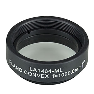 LA1464-ML - Ø1in N-BK7 Plano-Convex Lens, SM1-Threaded Mount, f = 1000.0 mm, Uncoated