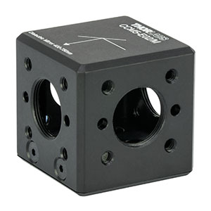 CCM5-E02/M - 16 mm Cage-Cube-Mounted Dielectric Turning Prism Mirror, 400 - 750 nm, M4 Tap