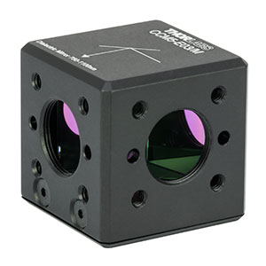 CCM5-E03/M - 16 mm Cage-Cube-Mounted Dielectric Turning Prism Mirror, 750 - 1100 nm, M4 Tap