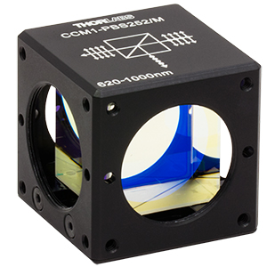 CCM1-PBS252/M - 30 mm Cage Cube-Mounted Polarizing Beamsplitter Cube, 620-1000 nm, M4 Tap
