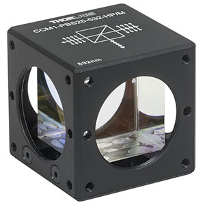 CCM1-PBS25-532-HP/M - 30 mm Cage-Cube-Mounted, High-Power, Polarizing Beamsplitter Cube, 532 nm, M4 Tap