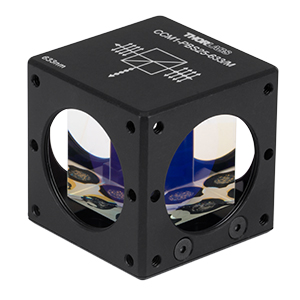 CCM1-PBS25-633/M - 30 mm Cage-Cube-Mounted Polarizing Beamsplitter Cube, 633 nm, M4 Tap