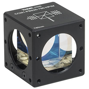 CCM1-PBS25-780-HP/M - 30 mm Cage-Cube-Mounted, High-Power, Polarizing Beamsplitter Cube, 780 - 808 nm, M4 Tap