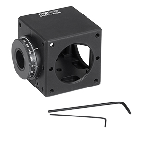 CCM1-A4ER/M - Clamping 4-Port Prism/Mirror 30 mm Cage Cube, 1 Rotation Mount, M4 Tap