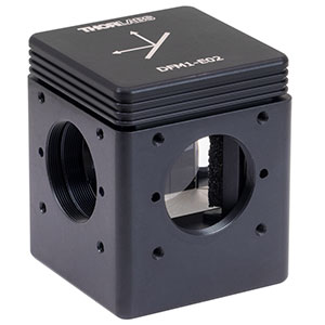DFM1-E02 - Kinematic Beam Turning Cage Cube with Dielectric-Coated Right-Angle Prism Mirror, 400 - 750 nm, Right-Turning, 1/4in-20 Tapped Holes
