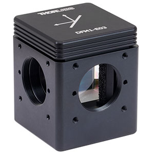 DFM1-E03 - Kinematic Beam Turning Cage Cube with Dielectric-Coated Right-Angle Prism Mirror, 750 - 1100 nm, Right-Turning, 1/4in-20 Tapped Holes
