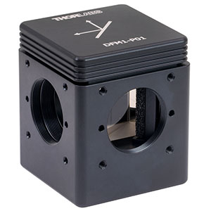 DFM1-P01 - Kinematic Beam Turning Cage Cube with Silver-Coated Right-Angle Prism Mirror, 450 nm - 20 µm, Right-Turning, 1/4in-20 Tapped Holes
