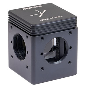 DFM1/M-M01 - Kinematic Beam Turning Cage Cube with Gold-Coated Right-Angle Prism Mirror, 800 nm - 20 µm, Right-Turning, M6 Tapped Holes