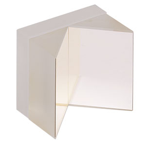 HRS1015-P01 - 1in x 1in Hollow Roof Prism Mirror, Protected Silver