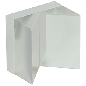 HRS1015-G01 - 1in x 1in Hollow Roof Prism Mirror, Protected Aluminum