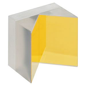 HRS1015-M03 - 1in x 1in Hollow Roof Prism Mirror, Unprotected Gold