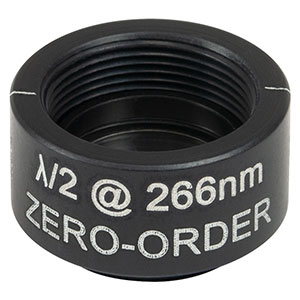 WPHSM05-266 - Ø1/2in Zero-Order Half-Wave Plate, SM05-Threaded Mount, 266 nm