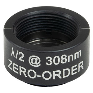 WPHSM05-308 - Ø1/2in Zero-Order Half-Wave Plate, SM05-Threaded Mount, 308 nm