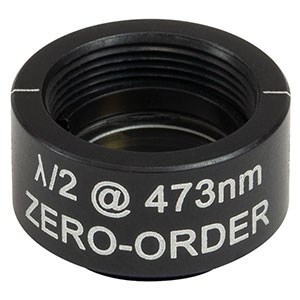 WPHSM05-473 - Ø1/2in Zero-Order Half-Wave Plate, SM05-Threaded Mount, 473 nm