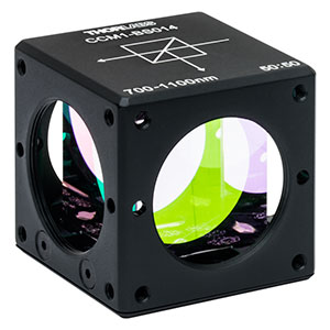 CCM1-BS014 - 30 mm Cage Cube-Mounted Non-Polarizing Beamsplitter, 700 - 1100 nm, 8-32 Tap