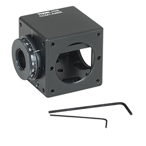 CCM1-A4ER - Clamping 4-Port Prism/Mirror 30 mm Cage Cube, 1 Rotation Mount, 8-32 Tap