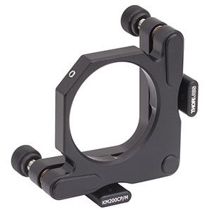 KM200CP/M - Kinematic Mirror Mount for Ø2in Optics with Post-Centered Front Plate, M4 Taps