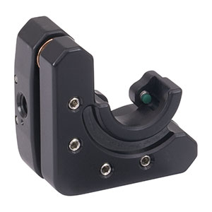 KM05DL/M - Left-Handed Kinematic Mount for Ø1/2in D-Shaped Mirrors, M4 Taps