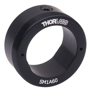 SM1A60 - Externally SM1-Threaded Mounting Adapter with Ø0.7in</br>(Ø17.8 mm) Bore and 1in Outer Diameter