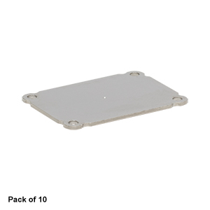 EECEP10 - Blank End Plate for Customizable Electronics Housing, 1.25in x 1.75in, Qty. 10