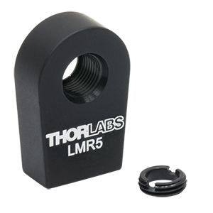 LMR5 - Lens Mount with Retaining Ring for Ø5 mm Optics, 8-32 Tap