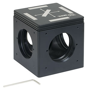 DFM2 - Kinematic Fluorescence Filter Cube, 60 mm Cage Compatible, Right-Turning, 1/4in-20 Tapped Holes