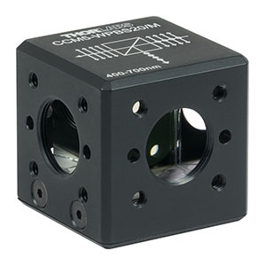 CCM5-WPBS20/M - 16 mm Cage Cube-Mounted Wire Grid Beamsplitter Cube, 400 - 700 nm, M4 Tap