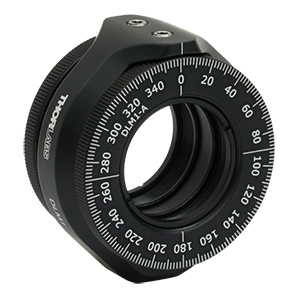 DLM1 - Dual Rotation Mount for Ø1in Optics, Two Interchangeable Rotating Carriages, 8-32 Tap
