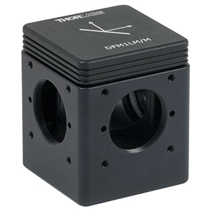 DFM1LM/M - Kinematic Beam Turning 30 mm Cage Cube for Right-Angle Prism Mirror, Left Turning, M6 Tapped Holes