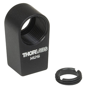 MLH6 - Mini-Series Lens Mount with Retaining Ring for Ø6 mm Optics, 4-40 Tap